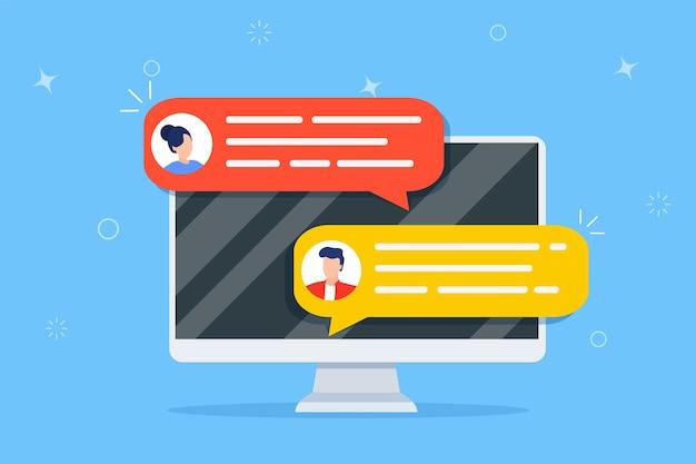 Avisos de chat en línea por computadora