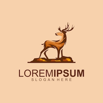 Awesome deer logo premium