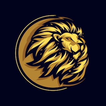 Awesome head lion logo premium