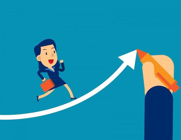 Ayuda a los ejecutivos de la empresaria a tener éxito.