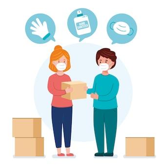 Ayuda humanitaria y donación
