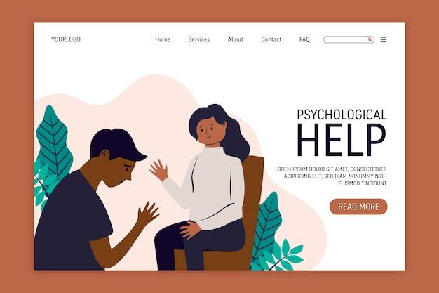 Ayuda psicológica - página de destino