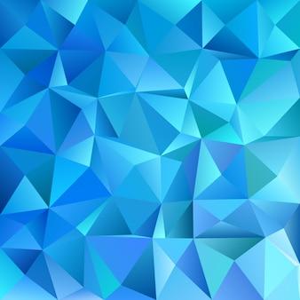 Azul, geométrico, abstracto, caótico, triángulo, patrón, plano de fondo - mosaico, vector, gráfico, diseño