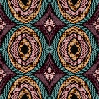 Azul ikat étnico de patrones sin fisuras.