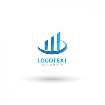 Azul logotipo de bienes raíces