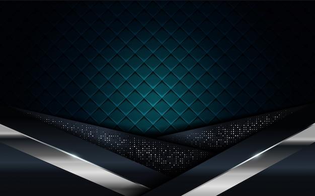Azul marino realista combinado con fondo texturizado de línea plateada y negra