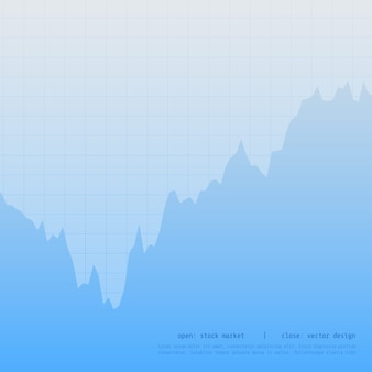 Azul negocio gráfico gráfico diseño con alto y punto bajo