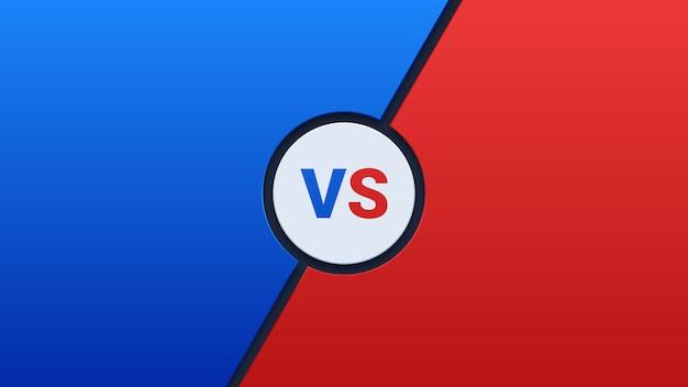 Azul y rojo versus fondo