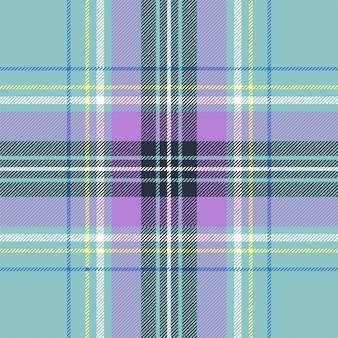 Azul tartán cuadros bebé color de patrones sin fisuras. ilustración vectorial diseño plano. eps10.