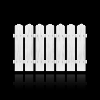 Azulejo de la cerca blanca