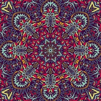 Azulejo dibujado a mano abstracto azul y blanco sin fisuras patrón de pintura de acuarela ornamental. textura de lujo elegante para telas y papeles pintados, fondos y fil de página