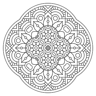 Azulejo geométrico decorativo dibujado a mano ilustración