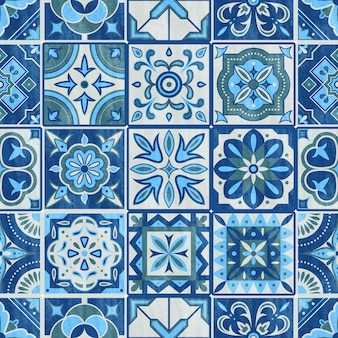 Azulejo patchwork sin costura