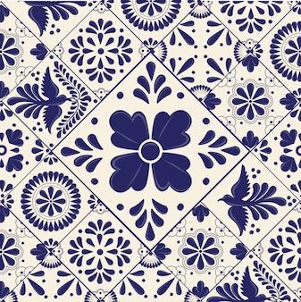 Azulejos de talavera mexicana con formas