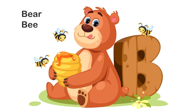 B para bear bee