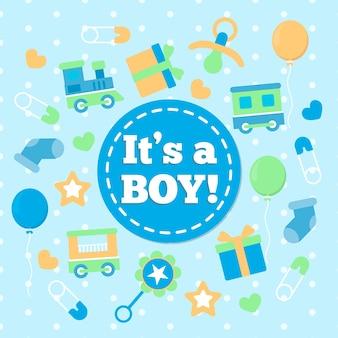 Baby boy ducha evento concepto