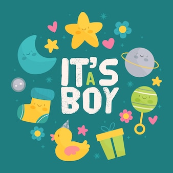Baby boy ducha evento tema