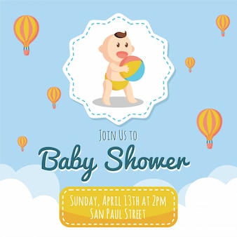 Baby shower azul
