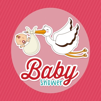Baby shower elemento simple