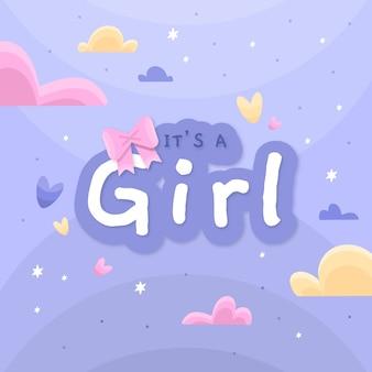 Baby shower girl design
