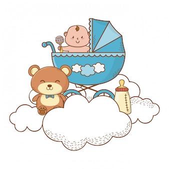 Baby shower linda hermosa ilustración