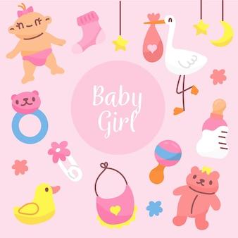 Baby shower para niña de fondo
