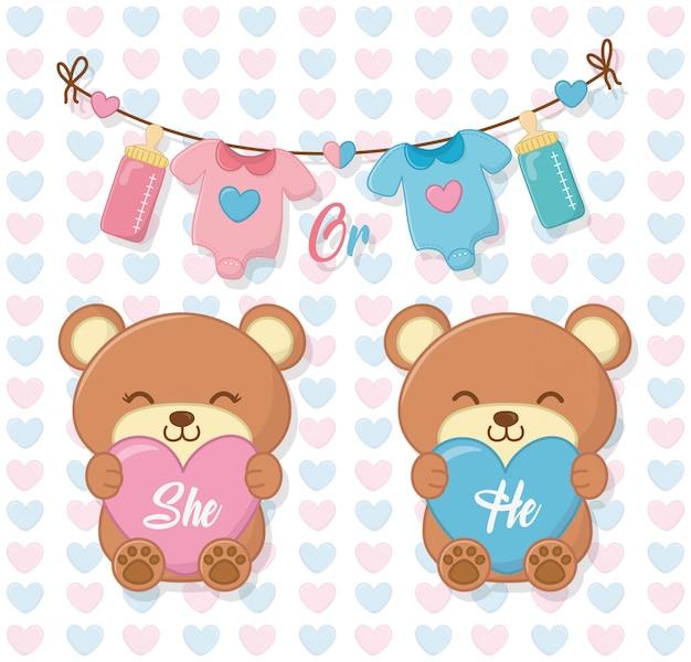 Baby shower de una niña y un niño