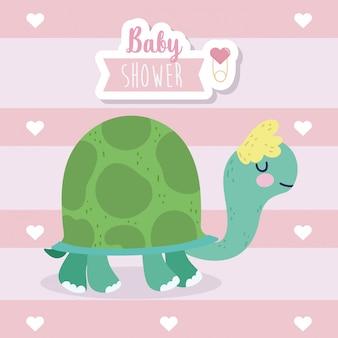Baby shower tortuga linda de dibujos animados de animales