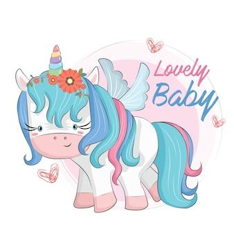 Baby unicorn blue