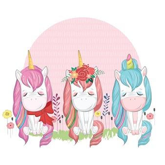 Baby unicorn three packs
