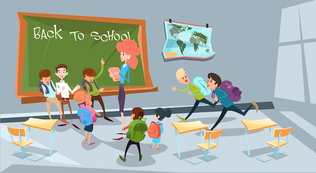 Back to school children group