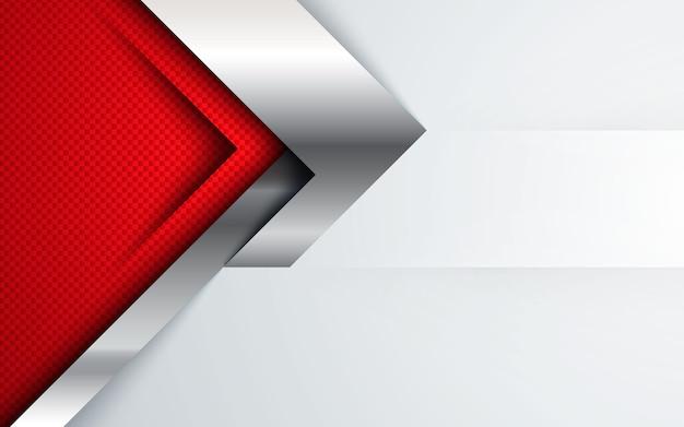 Backgrund abstracto rojo, concepto corporativo moderno con efecto plateado.