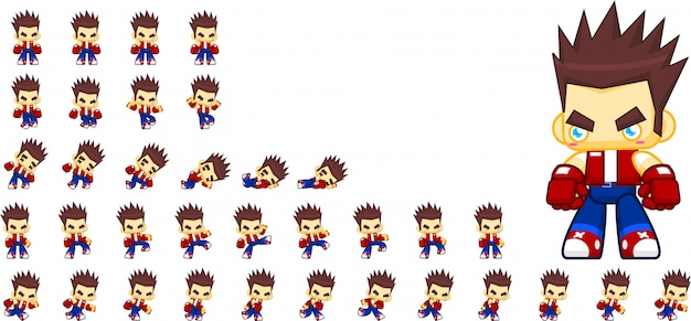 Bad boy game sprites