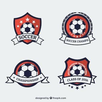 Badges de campeonato de fútbol