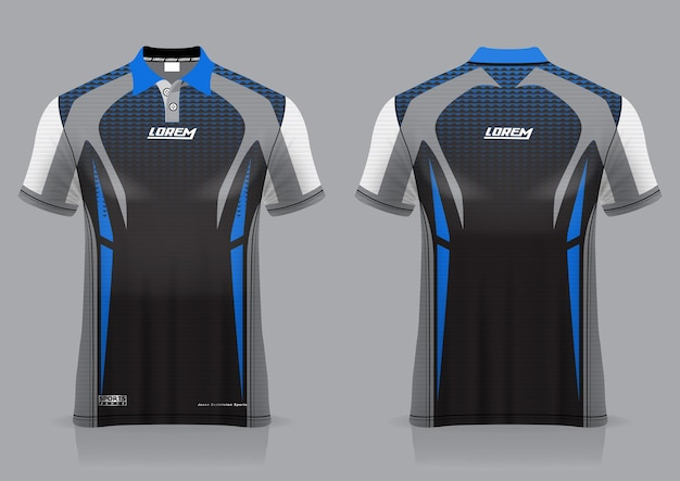 Bádminton deportivo de jersey, fútbol, corredor, para plantilla de vista frontal y posterior uniforme