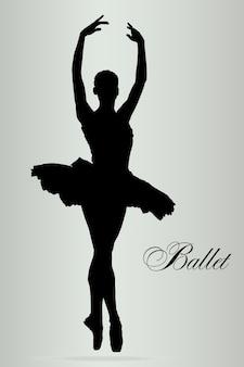 Bailarín de ballet en el teatro