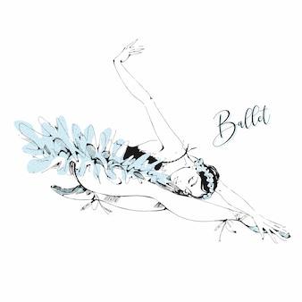 Bailarina de ballet blanca cisne