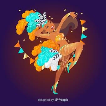 Bailarina del carnaval de brasil