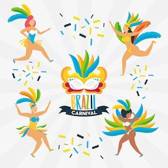 Bailarina carnaval de brasil