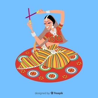 Bailarina de dandiya