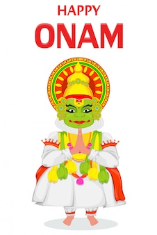 Bailarina de kathakali feliz onam