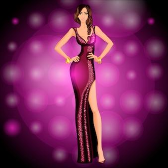 Bailarina personaje de fiesta