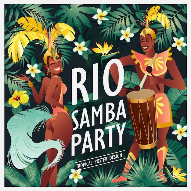 Bailarina de samba brasileña