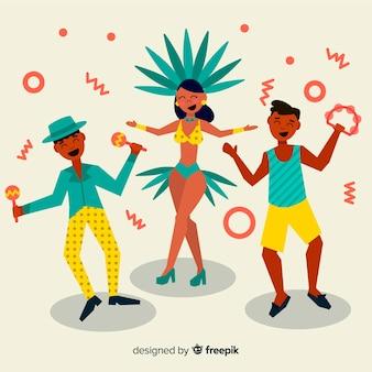 Bailarines brasileños