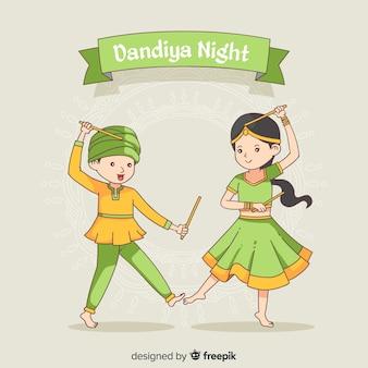 Bailarines de dandiya