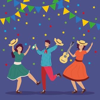 Bailarines festa junina