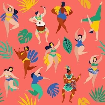 Bailarines de samba brasileños del carnaval en río de janeiro.