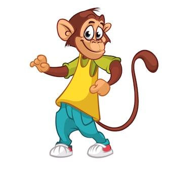 Baile de chimpancé de dibujos animados