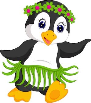 Baile de dibujos animados de pingüinos
