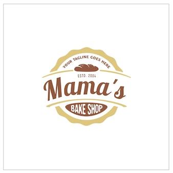 Bake shop etiqueta etiqueta logo